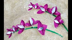 origami orchid tutorial easy origami orchid christmas decoration youtube