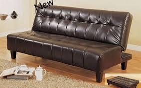 Leather Futon Sofa Espresso Finish Bycast Leather Futon Sofa Bed Sleeper By