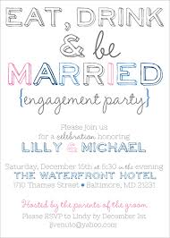 eat drink and be married invitations eat drink and be married engagement party invites from party box