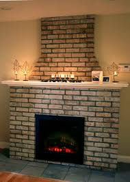 building an electric fireplace with brick facade hgtv