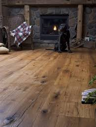 Hardwood Plank Flooring Antique Oak Random Width Traditional Wood Flooring New York