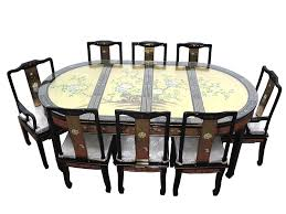 chinese oriental furniture genuine gold leaf 8 seater dining