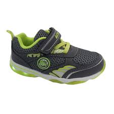 size 5 light up shoes boys shoes activ fab light up sole runner hook and loop 2 colours