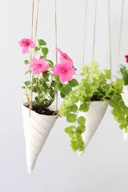 ice cream cone diy hanging planters helloglow co