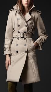 burberry prorsum women trench coat with narrow gun flaps