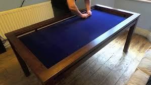 reclaimed wood game table furniture surprising geeknson the denis gaming table demo butler