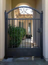 Custom Size Steel Exterior Doors Gate And Fence Decorative Metal Gates Iron Driveway Gates Iron