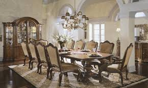 Antique Dining Room Sets Dark Brown Finish Solid Wood Long Table Formal Dining Room Sets