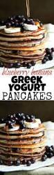 Blueberry Pancake Recipe Blueberry Banana Greek Yogurt Pancakes Running With Spoons