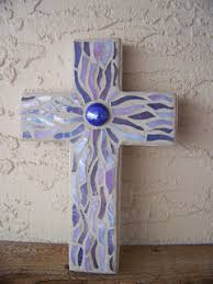 wall crosses for sale blue wave glass