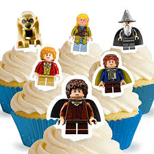 lord of the rings cake topper cakeshop 12 x pre cut lego lord of the rings the hobbit stand up