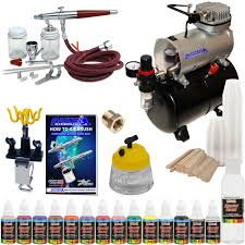 paasche vl set airbrush system air compressor 12 color paint kit