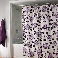 Purple Floral Curtains Purple Gray Silver Color Combo Pretty Shower Curtain