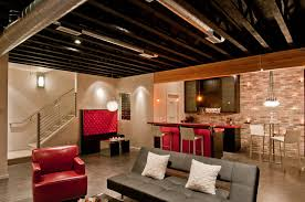 Cheap Ceiling Ideas Living Room Interior Basement Low Ceiling Decorating Ideas Different