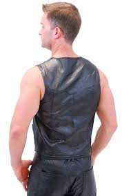 leather biker vest black leather patch leather biker vest vm951pk