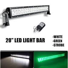 led security light bar 20inch green white strobe remote led work light bar combo offroad