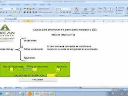calculadora de salario diario integrado 2016 calculo de salario diario integrado para imss parte 1 3 youtube