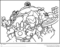 printable avengers coloring pages boys tags avengers