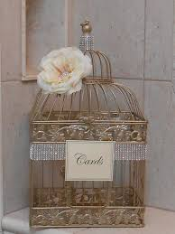 birdcages for wedding birdcage wedding card holder chagne gold birdcage