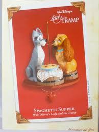 disney hallmark the tramp spaghetti supper figurine retired