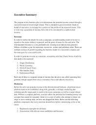 examples of executive summaries