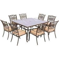 8 9 person aluminum patio dining furniture patio furniture for