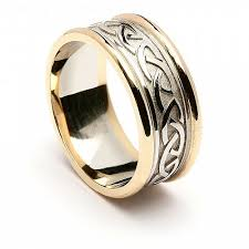 celtic wedding rings embossed celtic knot ring with trim celtic rings ltd