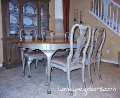 Painted Dining Room Sets Dining Table Metallic Paint Google Search Ob Apt Pinterest