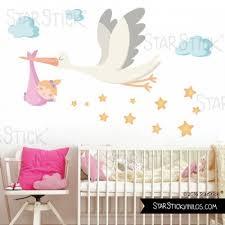 stickers muraux chambre bienvenue bébé fille sticker muraux chambre bébé