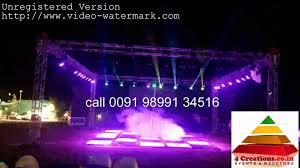 dj lighting truss package dj lights setup big 4side truss 4creations co in youtube