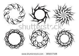 round patterntribal tattoo circular ornament design stock vector