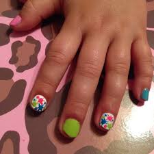 colorful little nails paint splatter kids nail design kids