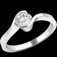 twist engagement ring single twist engagement ring for women in 9ct white gold