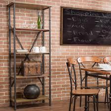 Interior Brick Veneer Home Depot Baxton Studio Lancashire Brown Open Bookcase 28862 5500 Hd The