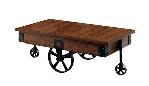 coffee table with caster wheels augustina medium weathered oak finish caster wheel coffee table 24