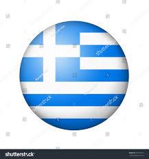 Greek Flag Background Greek Flag Round Matte Icon Isolated Stock Illustration 377078776