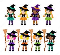 Cute Halloween Vector Halloween Cute Witches Big Set U2014 Stock Vector Sandylevtov 83692078
