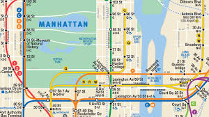 Manhattan New York Map by Second Avenue Line W Train Depicted In New Mta Subway Map Am
