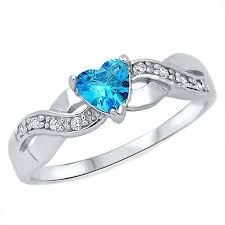 925 sterling silver v shaped heart promise ring size 5 6 7 8 9 10 paki 0 6ct heart cut blue topaz cz crossover infinity promise