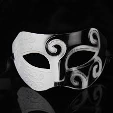 black and white masquerade mask plastic cool venetian half mask wholesale for sale