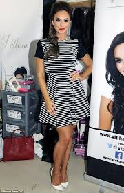 pattison hair extensions pattison dons monochrome dress as she promotes hair