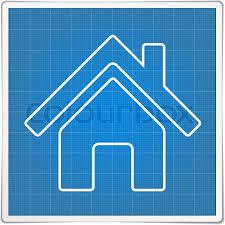 blueprint house icon stock vector colourbox