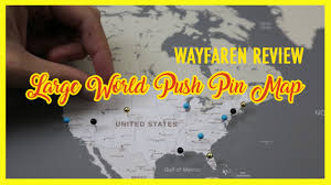Framed Maps Of The United States by Large World Push Pin Map With Classic Frame From Wayfaren Review