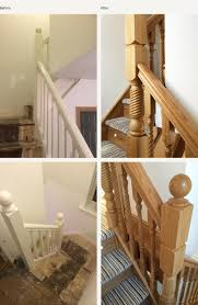 Modern Banisters Uk Before And After Glass And Wood Staircase Renovations Medlock