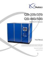 qsi 335i 500i quincy compressor pdf catalogue technical