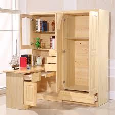 Wood Corner Bookcase All Solid Wood Desk With Simple Desktop Home Computer Corner