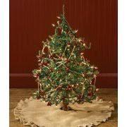 jute burlap ruffled 24 inch tabletop tree skirt