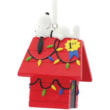 iconix peanuts snoopy on decorated house ornament