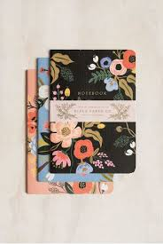 Floral Desk Accessories Rifle Paper Co Stitched Notebooks Set Of 3 Ruled Large