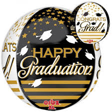 anagram 16 inch orbz congrats grad gold black from category